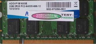 Adata 2GB DDR2 PC2-6400S 800MHz
