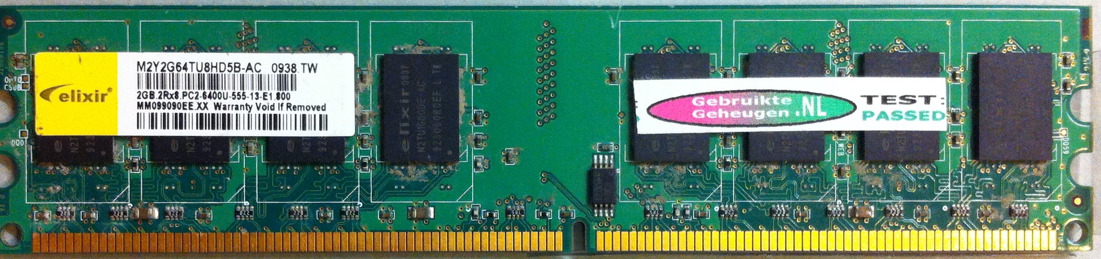 Elixir 2GB DDR2 PC2-6400U 800MHz