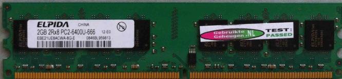 Elpida 2GB DDR2 PC2-6400U 800MHz