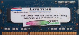 Lifetime 2GB DDR3 PC3-8500S 1066MHz