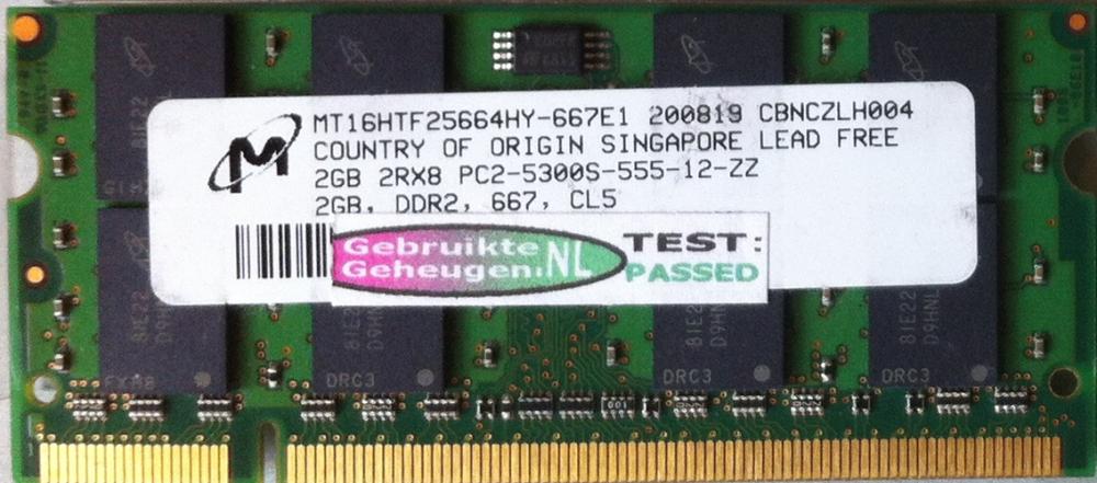 Micron 2GB DDR2 PC2-5300S 667MHz