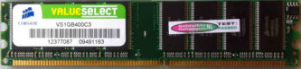 ValueSelect 1GB DDR PC3200U 400MHz