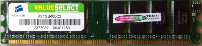 ValueSelect 1GB DDR PC3200U 400MHz