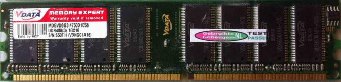 Vdata 1GB DDR PC3200U 400MHz