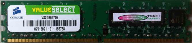 ValueSelect 2GB DDR2 PC2-5300U 667MHz