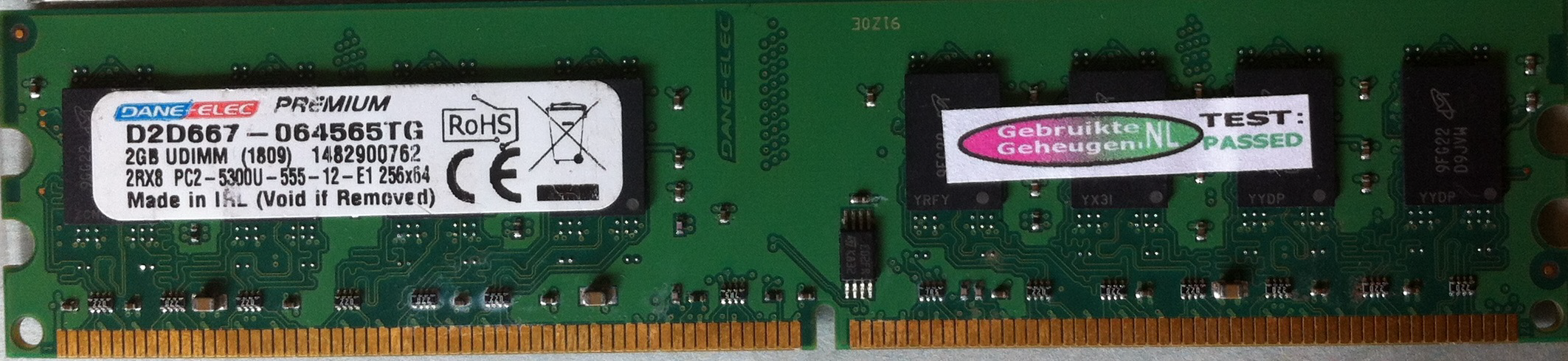 DaneElec 2GB DDR2 PC2-5300U 667MHz