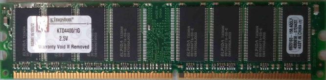 Kingston 1GB DDR PC2100U 266MHz