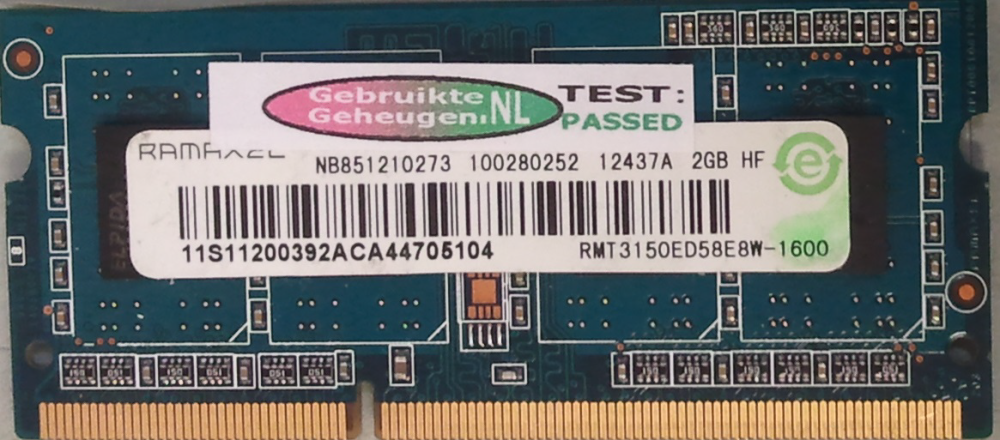 Ramaxel 2GB DDR3 PC3-12800S 1600MHz