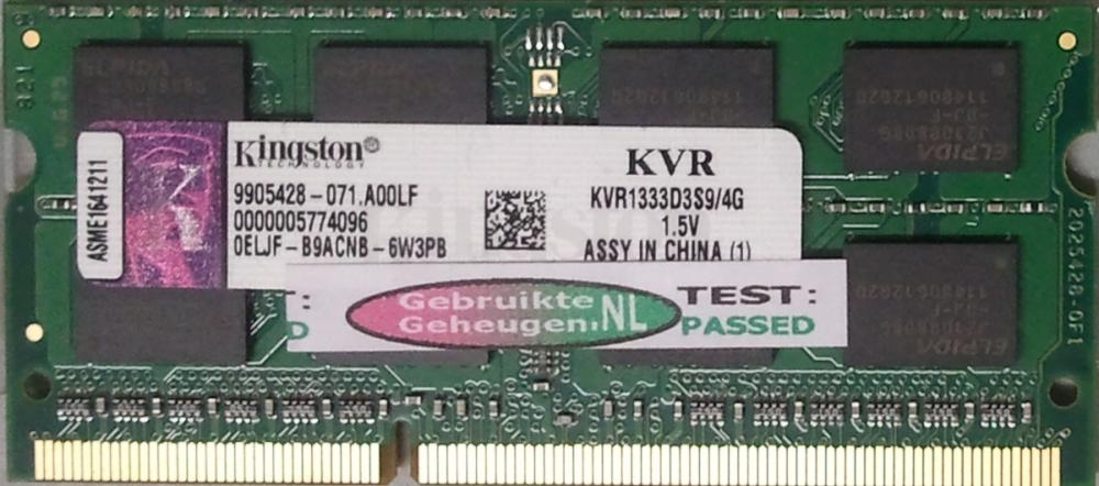 KVR1333D3S9/4G