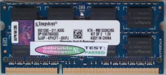 Kingston 4GB DDR3 PC3-10600S 1333MHz