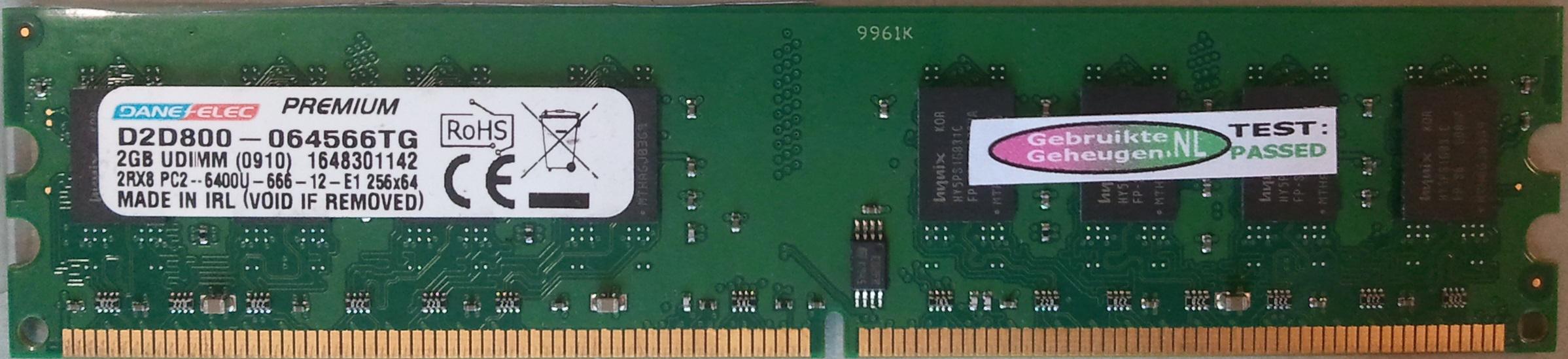 2Rx8 PC2-6400U-666-12-E1
