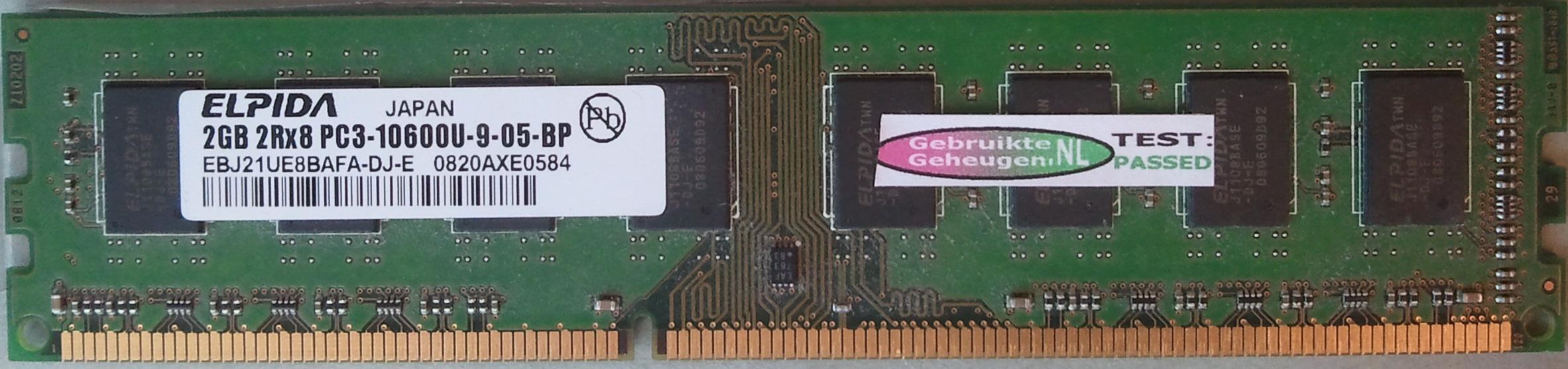2GB 2Rx8 PC3-10600U-9-05-BP