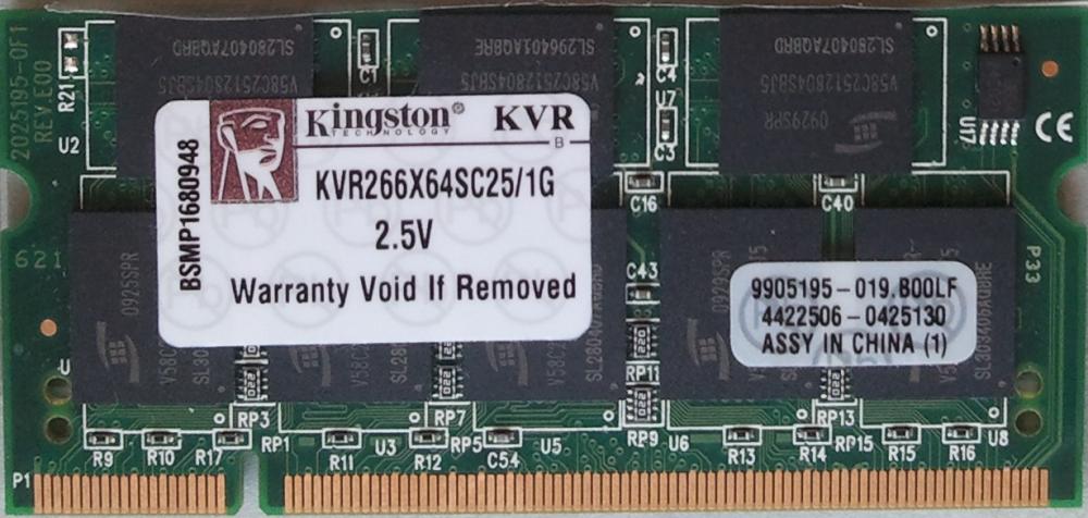 KVR266X64SC25/1G