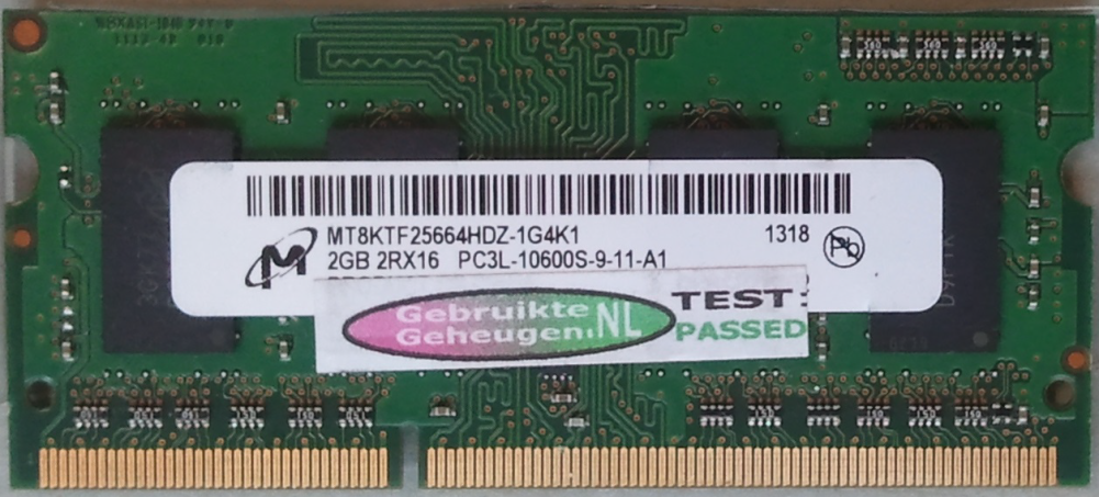 2GB 2RX16 PC3L-10600S-9-11-A1