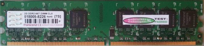 Transcend 2GB DDR2 PC2-5300U 667MHz