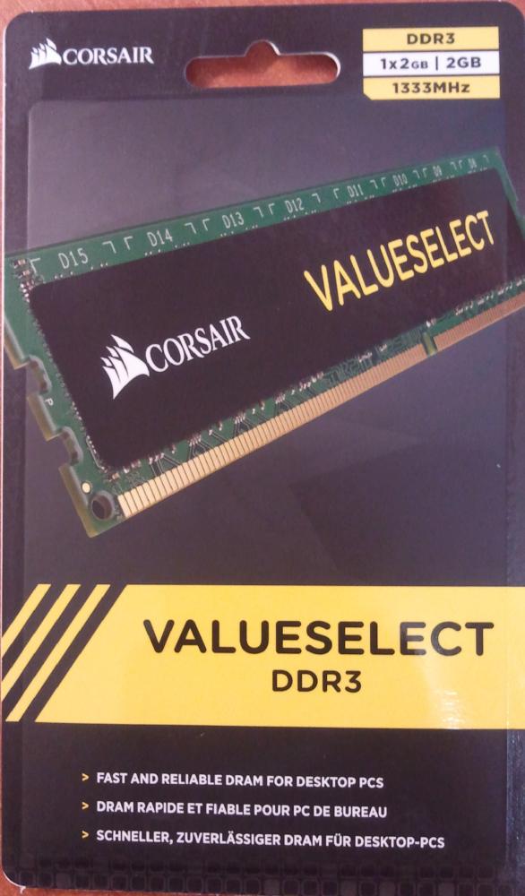C0rsair 2GB DDR3 PC3-10600U 1333MHz