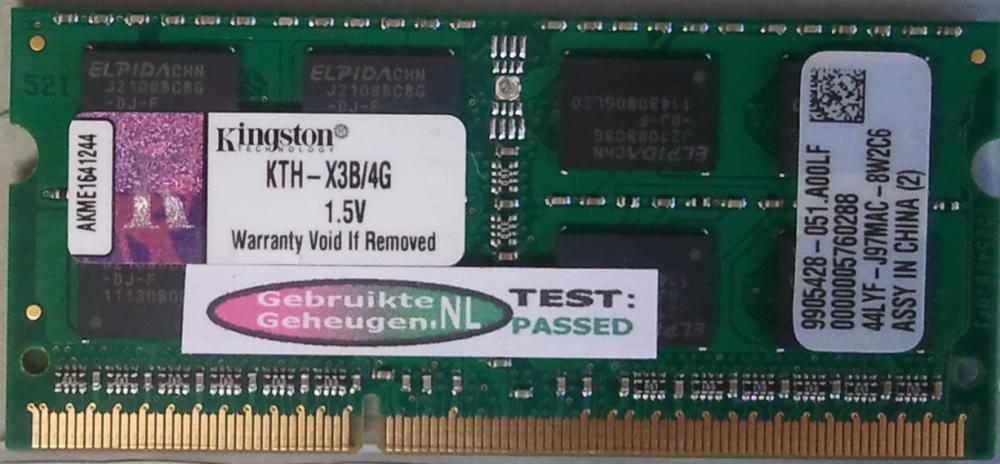 Kingston 4GB DDR3 PC3-10600S 1333MHz