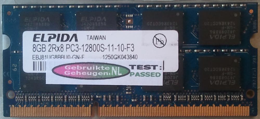 8GB 2Rx8 PC3-12800S-11-10-F3