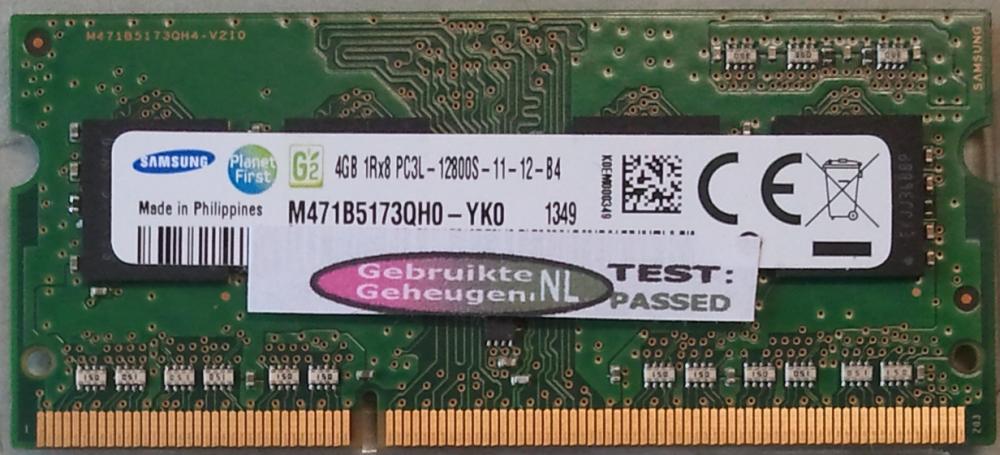 4GB 1Rx8 PC3L-12800S-11-12-B4