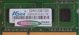 Asint 2GB DDR3 PC3-10600S 1333MHz 204pins