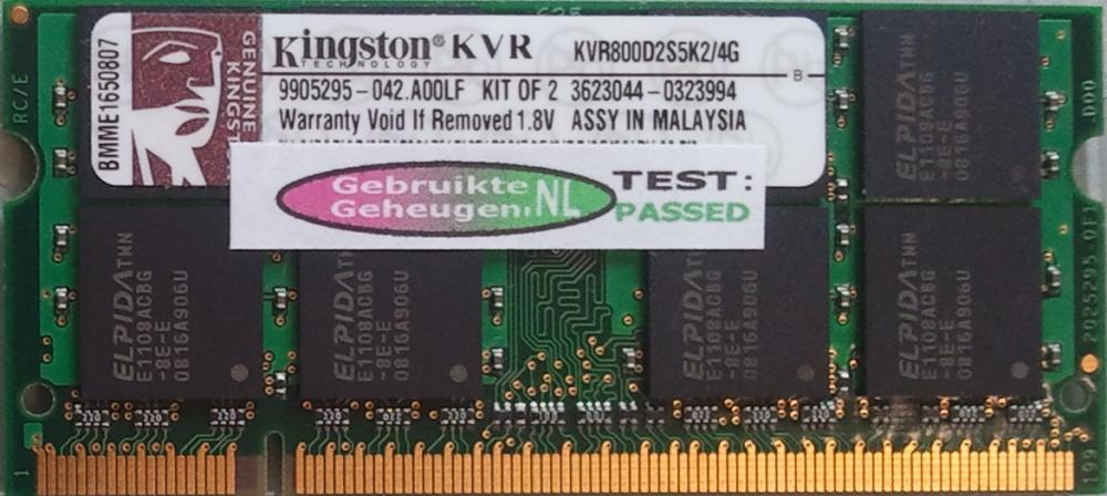 KVR800D2S5/2G
