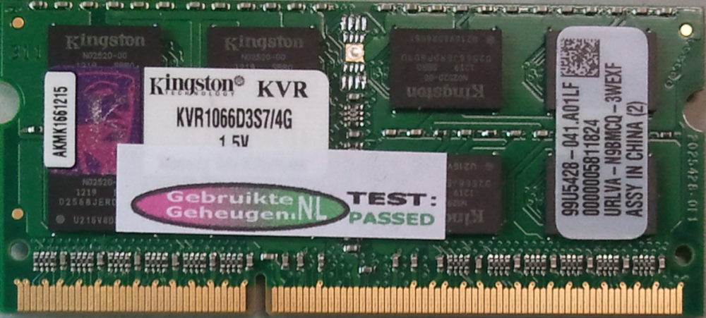 Kingston 4GB DDR3 PC3-10600S 1066MHz