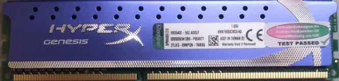 Kingston 4GB DDR3 PC3-12800U 1600MHz