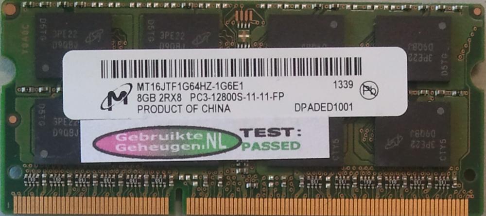 GB 2RX8 PC3-12800S-11-11-FP