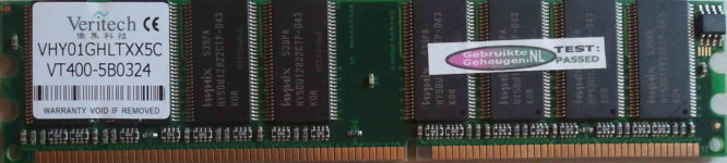 Veritech 1GB DDR PC3200U 400MHz