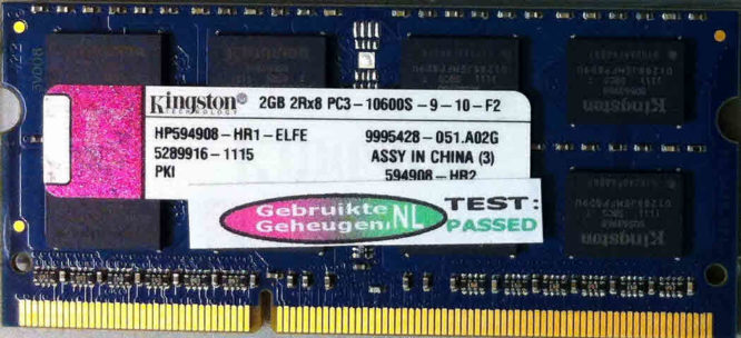 Kingston 2GB DDR3 PC3-10600S 1333MHz