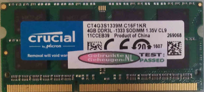 Crucial 4GB DDR3 PC3L-10600S 1333MHz