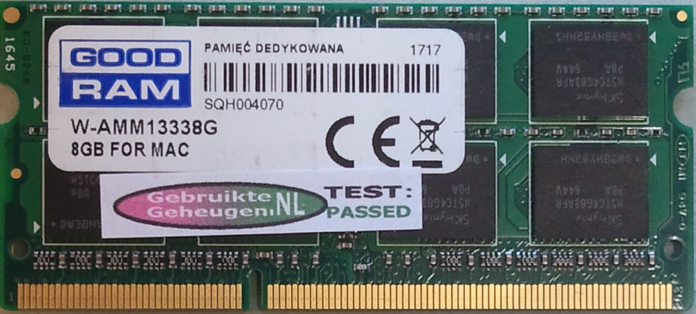GOODRAM 8GB DDR3 PC3-10600S 1333MHz