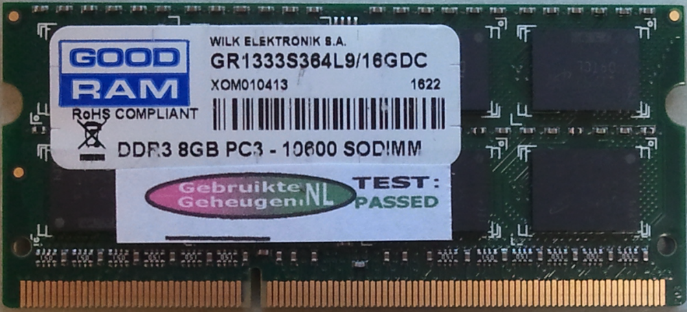 GOODRAM 8GB DDR3 PC3-10600S 1333MHz 204pins