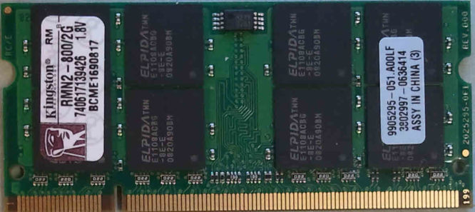 Kingston 2GB DDR2 PC2-6400S 800MHz