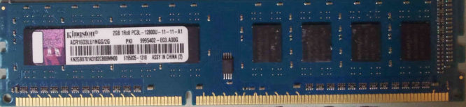 Kingston 2GB DDR3 PC3L-12800U 1600MHz