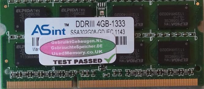 Asint 4GB DDR3 PC3-10600S 1333MHz