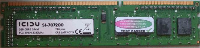 Icidu 2GB PC3-10600U 1333MHz