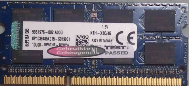 Kingston 4GB PC3-12800S 1600MHz