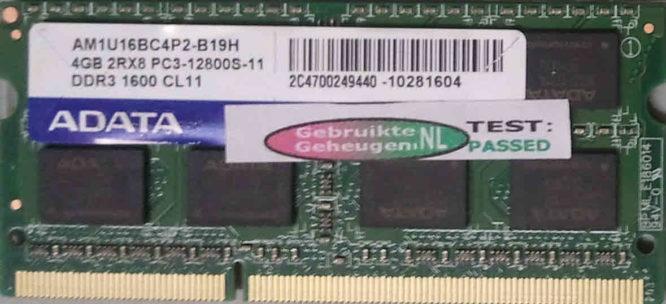 Adata 4GB PC3-12800S 1600MHz