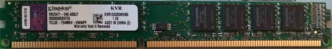 Kingston 8GB PC3-10600U 1333MHz