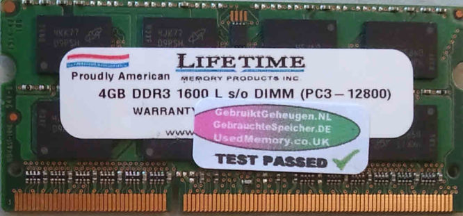 Lifetime 4GB PC3-12800S 1600MHz