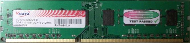 Vdata 2GB PC3-10600U 1333MHz