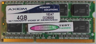MemorySolution 4GB PC3-10600S 1333MHz