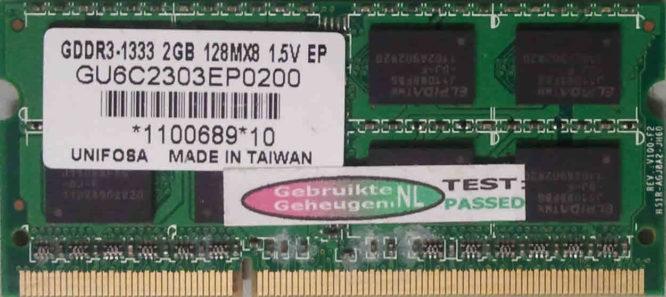 Unifosa 2GB PC3-10600S 1333MHz