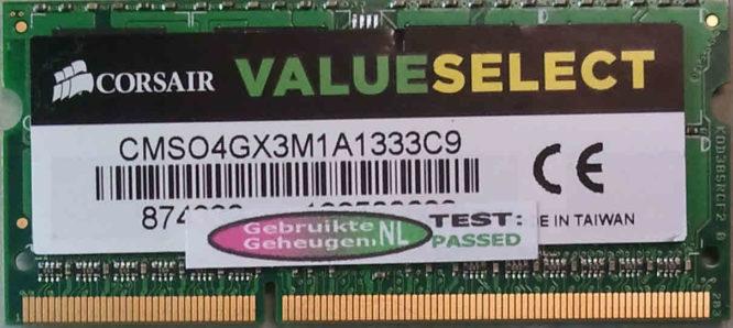 Corsair 4GB PC3-10600S 1333MHz