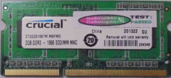 Crucial 2GB PC3-8500S 1066MHz