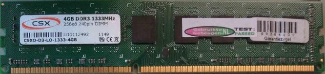 CSX 4GB PC3-10600U 1333MHz