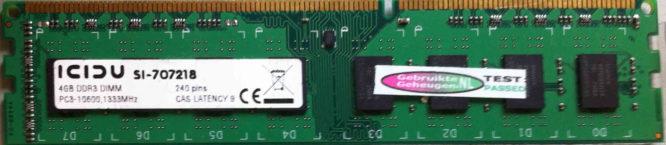 Icidu 4GB PC3-10600U 1333MHz