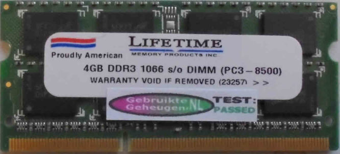 Lifetime 4GB PC3-8500S 1066MHz