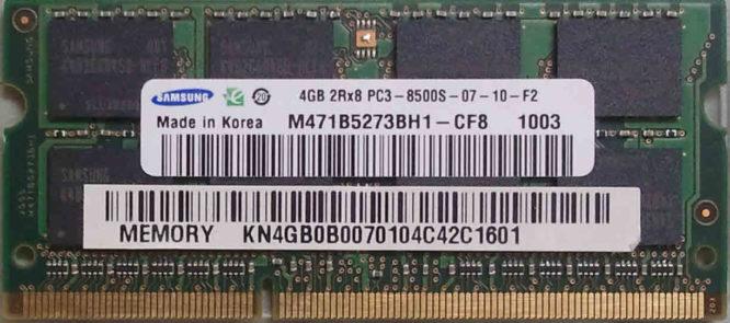 Samsung 4GB PC3-8500S 1066MHz